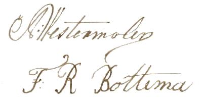 handtekeningen westermolen bottema